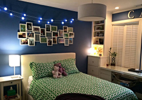 卧室简约风照片墙设计