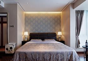 简约新中式卧室背景墙欣赏