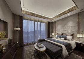 白色优雅卧室背景面板设计