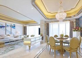 金色美式吊顶装修设计