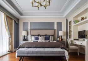 灰色新古典卧室背景墙欣赏