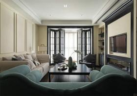 时尚新中式风格客厅装修设计