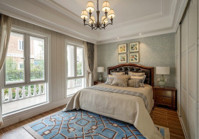 简约温馨美式风格卧室装修效果