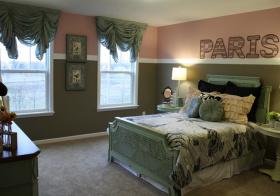 卧室纱窗型窗帘美图
