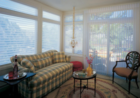 现代叶扇型窗帘装修美图