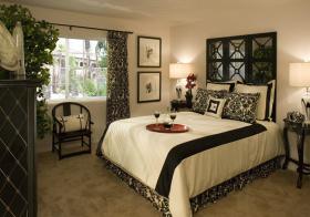 现代雅黑窗帘设计美图
