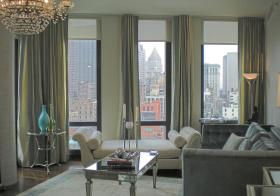 大气现代风客厅窗帘美图