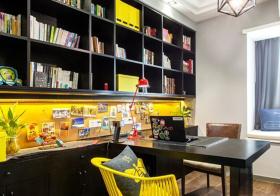 活泼撞色简约风书房设计
