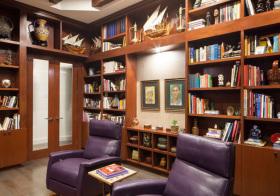 书香美式风书房装饰
