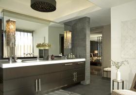 大气现代风浴室柜设计