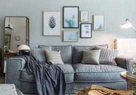 清新文艺简欧沙发背景墙设计