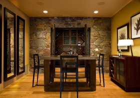 现代入墙式酒柜装修设计