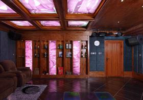现代木质酒柜装修美图