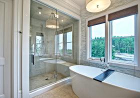 卫生间简洁飘窗设计美图