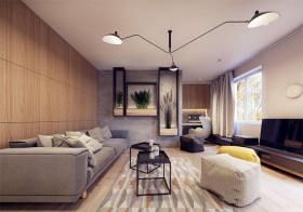 简约宜家风格客厅装修效果图