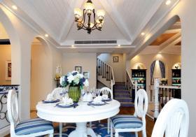 清爽地中海风格餐厅装修设计