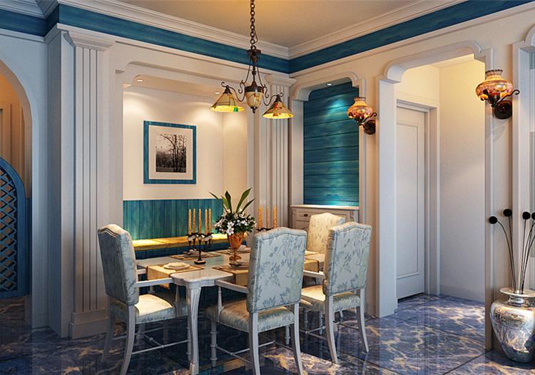 复古简欧风格餐厅装修设计