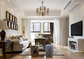 温馨混搭风格客厅装修设计