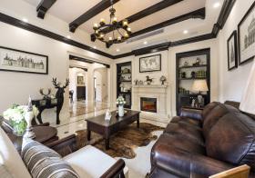 温馨美式风格客厅装修效果