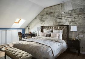 复古简欧风格卧室装修设计