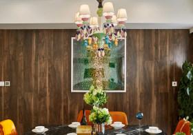 木条装饰餐厅背景墙设计