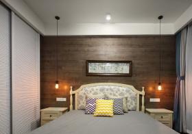 木质简欧卧室背景墙设计