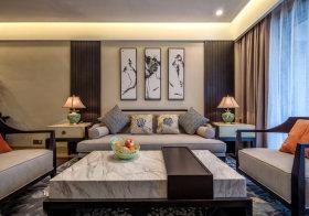 壁画中式沙发背景墙欣赏