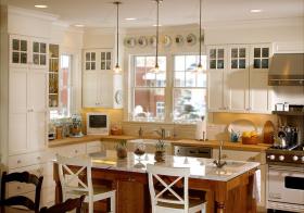 厨房白色橱柜美图