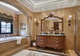 奢华美式风浴室柜装饰