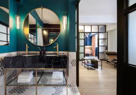 创意圆形现代浴室柜设计