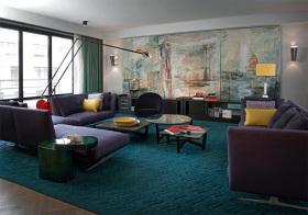 摩登混搭风格客厅装修效果图