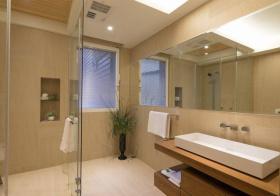 极简现代风格卫生间装修效果图片
