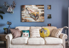 创意混搭沙发背景墙欣赏