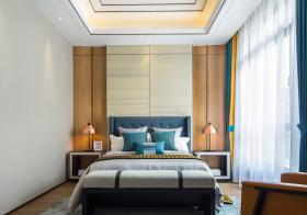 米黄中式卧室背景墙欣赏