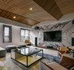 花纹大理石现代客厅背景墙欣赏