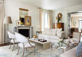 清新美式风格客厅装修效果图片