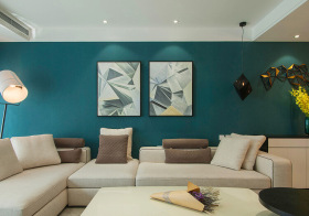 清新宜家客厅背景墙设计