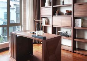 成熟美式风书房设计