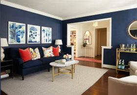 摩登简欧风格客厅装修设计