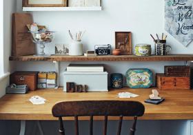 书桌简约式收纳设计