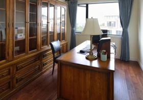 古典美式风书房装修设计