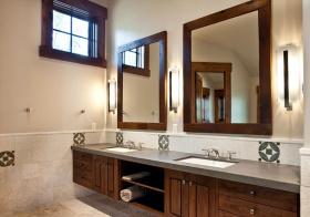 仿古美式浴室柜设计