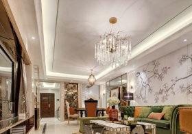 中式混搭客厅吊顶美图