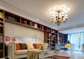 创意收纳客厅背景墙设计