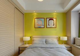 极简现代卧室背景墙欣赏