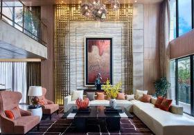 高雅混搭客厅背景墙美图