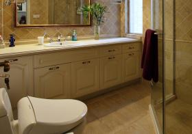 一字型美式浴室柜设计