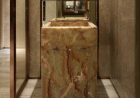 大理石简约风浴室柜设计