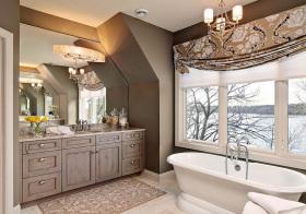 古典美式风浴室柜设计