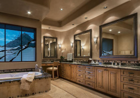 奢华美式风浴室柜设计